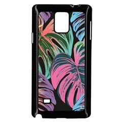 Leaves Tropical Jungle Pattern Samsung Galaxy Note 4 Case (black) by Nexatart