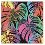 Leaves Tropical Jungle Pattern Large Satin Scarf (Square) Front