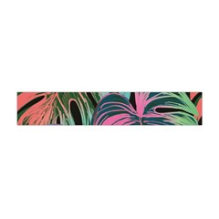Leaves Tropical Jungle Pattern Flano Scarf (mini)