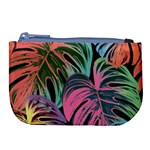 Leaves Tropical Jungle Pattern Large Coin Purse Front