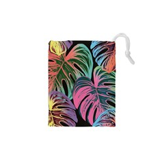 Leaves Tropical Jungle Pattern Drawstring Pouch (xs)