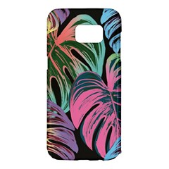 Leaves Tropical Jungle Pattern Samsung Galaxy S7 Edge Hardshell Case by Nexatart