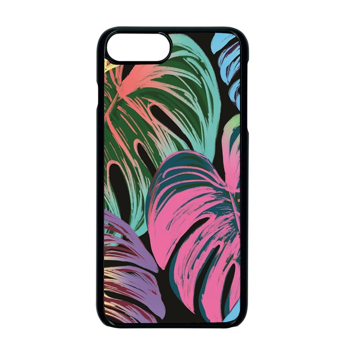 Leaves Tropical Jungle Pattern Apple iPhone 7 Plus Seamless Case (Black)