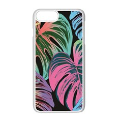 Leaves Tropical Jungle Pattern Apple Iphone 7 Plus Seamless Case (white)