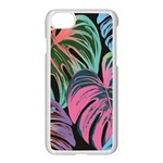 Leaves Tropical Jungle Pattern Apple iPhone 7 Seamless Case (White) Front