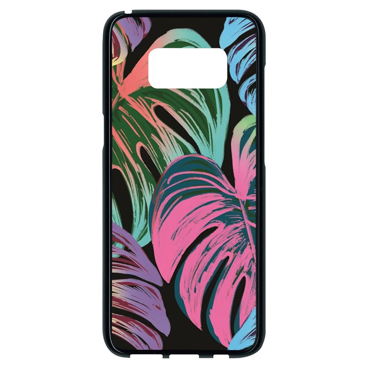 Leaves Tropical Jungle Pattern Samsung Galaxy S8 Black Seamless Case
