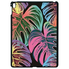 Leaves Tropical Jungle Pattern Apple Ipad Pro 9 7   Black Seamless Case