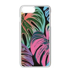 Leaves Tropical Jungle Pattern Apple Iphone 8 Plus Seamless Case (white)