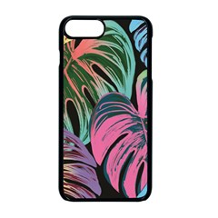 Leaves Tropical Jungle Pattern Apple Iphone 8 Plus Seamless Case (black)