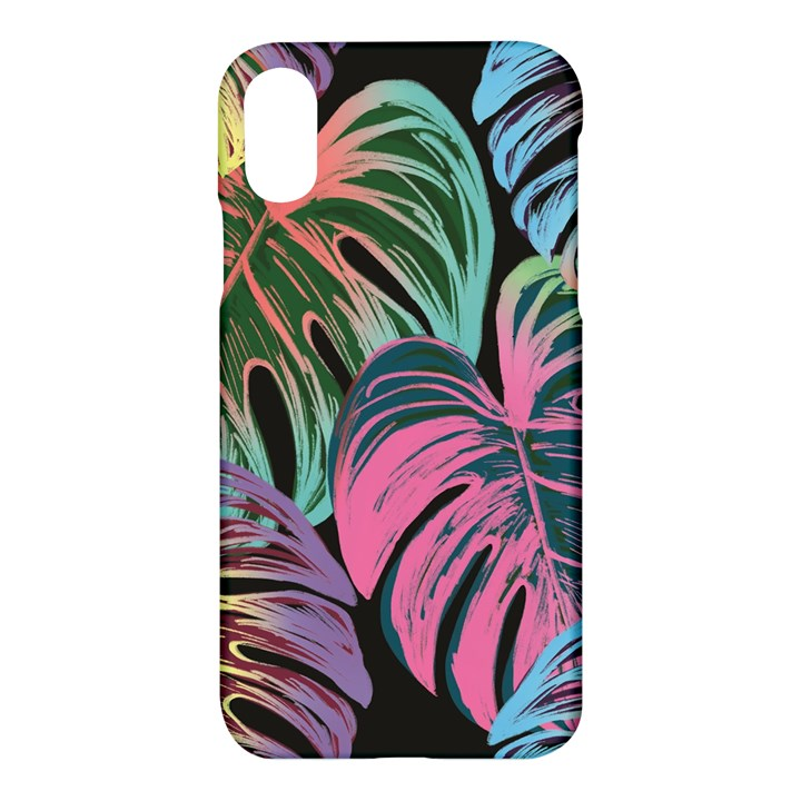 Leaves Tropical Jungle Pattern Apple iPhone X Hardshell Case