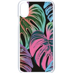 Leaves Tropical Jungle Pattern Apple Iphone X Seamless Case (white)