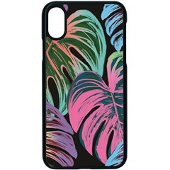 Leaves Tropical Jungle Pattern Apple Iphone X Seamless Case (black)