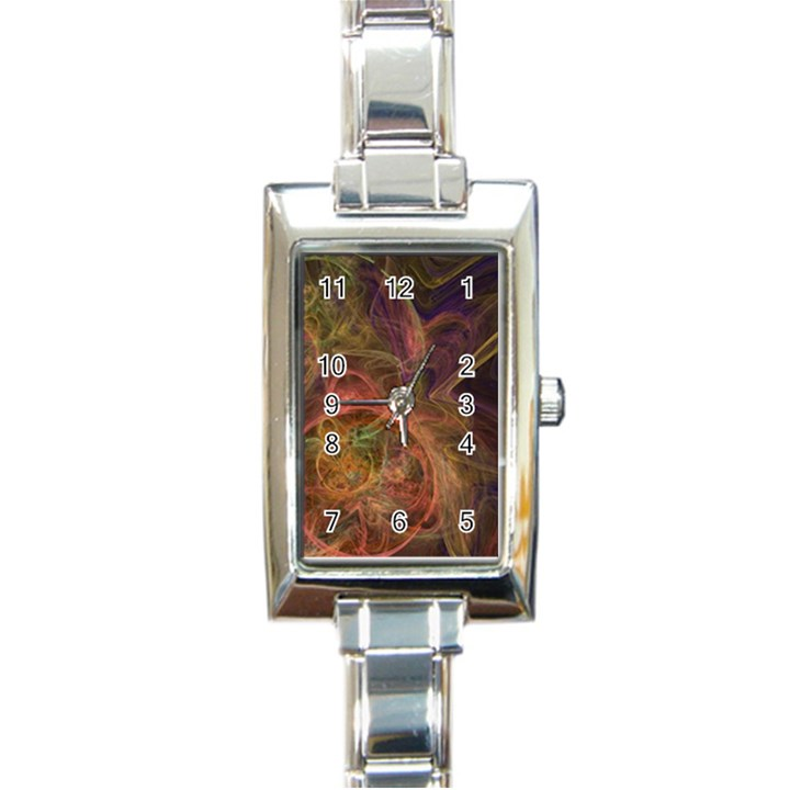 Abstract Colorful Art Design Rectangle Italian Charm Watch