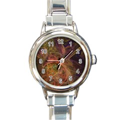 Abstract Colorful Art Design Round Italian Charm Watch by Nexatart