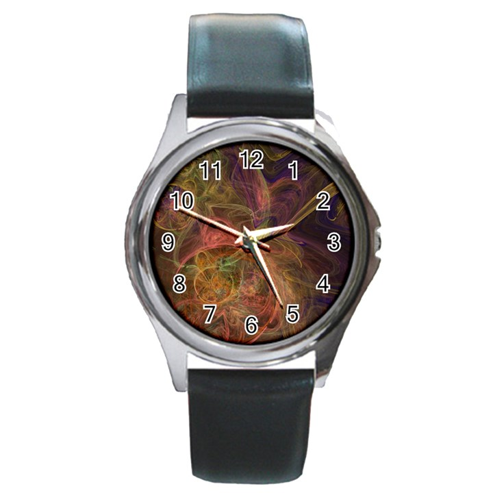 Abstract Colorful Art Design Round Metal Watch