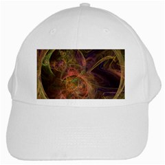 Abstract Colorful Art Design White Cap