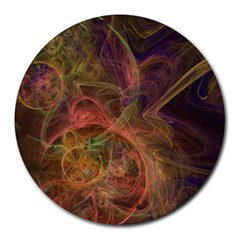 Abstract Colorful Art Design Round Mousepads