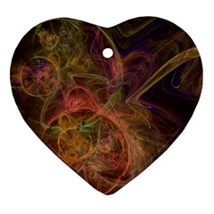 Abstract Colorful Art Design Ornament (heart) by Nexatart