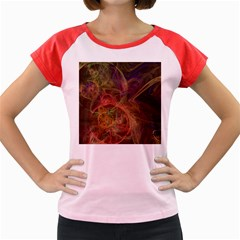 Abstract Colorful Art Design Women s Cap Sleeve T Shirt