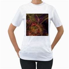 Abstract Colorful Art Design Women s T Shirt (white) (two Sided)
