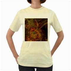 Abstract Colorful Art Design Women s Yellow T Shirt