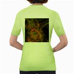Abstract Colorful Art Design Women s Green T-Shirt Back