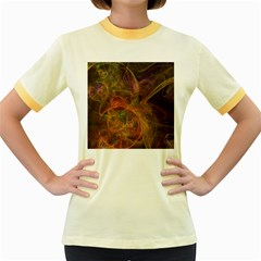 Abstract Colorful Art Design Women s Fitted Ringer T Shirt