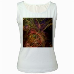Abstract Colorful Art Design Women s White Tank Top
