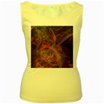 Abstract Colorful Art Design Women s Yellow Tank Top Front