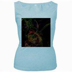 Abstract Colorful Art Design Women s Baby Blue Tank Top