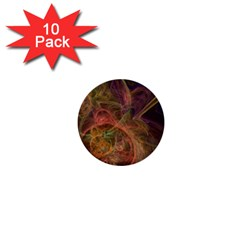 Abstract Colorful Art Design 1  Mini Buttons (10 Pack)