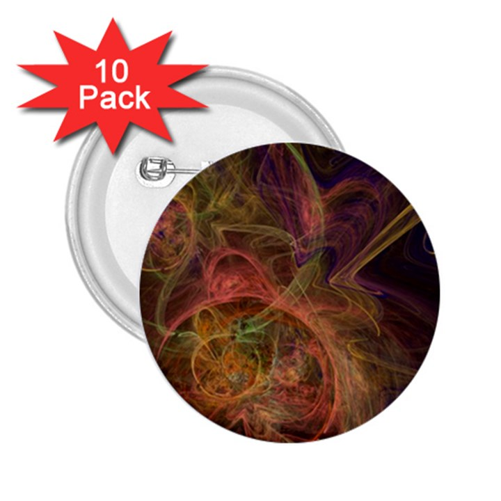 Abstract Colorful Art Design 2.25  Buttons (10 pack)