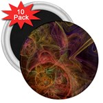 Abstract Colorful Art Design 3  Magnets (10 pack)  Front