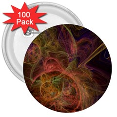 Abstract Colorful Art Design 3  Buttons (100 Pack)