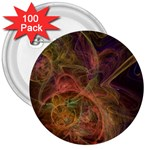 Abstract Colorful Art Design 3  Buttons (100 pack)  Front