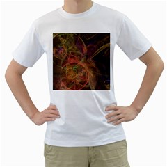 Abstract Colorful Art Design Men s T Shirt (white) (two Sided)