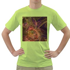 Abstract Colorful Art Design Green T Shirt