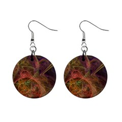 Abstract Colorful Art Design Mini Button Earrings