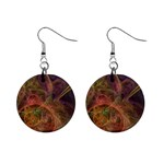 Abstract Colorful Art Design Mini Button Earrings Front