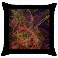 Abstract Colorful Art Design Throw Pillow Case (black) by Nexatart