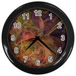Abstract Colorful Art Design Wall Clock (Black) Front
