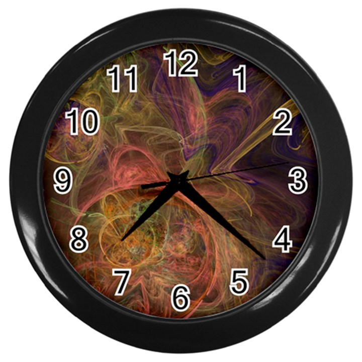 Abstract Colorful Art Design Wall Clock (Black)
