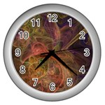 Abstract Colorful Art Design Wall Clock (Silver) Front