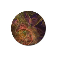 Abstract Colorful Art Design Magnet 3  (round)