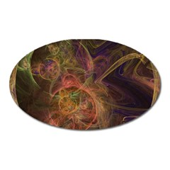 Abstract Colorful Art Design Oval Magnet