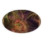 Abstract Colorful Art Design Oval Magnet Front