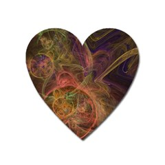 Abstract Colorful Art Design Heart Magnet