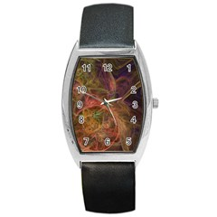 Abstract Colorful Art Design Barrel Style Metal Watch