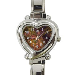 Abstract Colorful Art Design Heart Italian Charm Watch by Nexatart