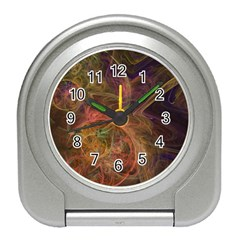 Abstract Colorful Art Design Travel Alarm Clock